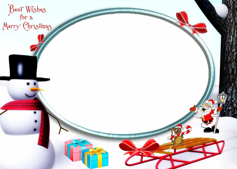 Новогодние рамки. Огромная рождественская рамка для фотографий с наилучшими пожеланиями счастливого Рождества. Рождественская рамка для детских и семейных фото обязательно придётся Вам по душе. Здесь есть и забавный снеговик в клетчатом шарфе, и напоминание о счастливом детстве – детские сани, на которых так весело кататься с горки. И чудесный мышонок дарит Вам конфету в форме тросточки.