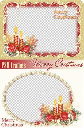 Новогодние рамки. Две восхитительные рождественские рамки, одна из которых отлично подойдёт именно Вам. Если Вы любите делать подарки своими руками, рождественская рамка поможет Вам сделать чудесное тематическое оформление для фотографий. Одна рождественская рамка на белом фоне позволяет дополнить её разными элементами, чтобы сделать её уникальной. Вторая элегантная рождественская рамка поможет быстро сделать красивое оформление для фото.