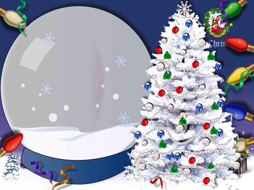 Новогодние рамки. Восхитительная и оригинальная рождественская рамка для детских и семейных фотографий на тёмно-синем фоне. По краям рождественская рамка украшена разноцветными лампочками и довольно редко встречающейся в новогодних и рождественских рамках белоснежной ёлочкой, украшенной к празднику. Сама рождественская рамка для фото сделана в виде прозрачного шара, и портрет получается как бы за стеклом. Оригинальная нежная рождественская рамка – отличный сюрприз для Ваших близких.
