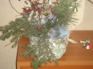 Новогодняя икебана