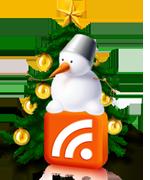 Новогодняя RSS - ёлка и снеговик