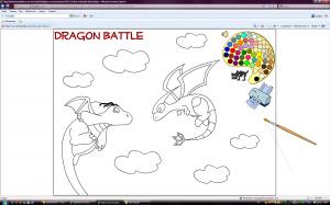 Флеш раскраска битва драконов (Dragon Battle)