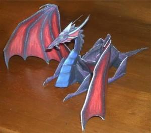 Бумажный дракон к новому году