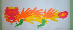 Бумажный новогодний дракон №3