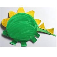 Дракон из бумажной тарелки - 1