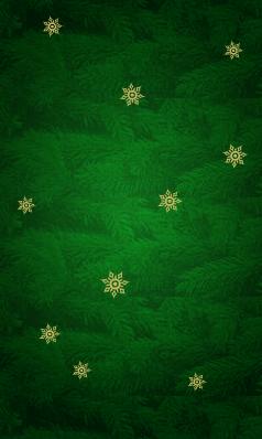 Зелёные еловые веточки и золотистые снежинки - отличный фон для новогоднего сайта.