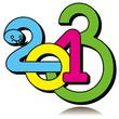 Разноцветная надпись 2013