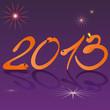 На фиолетовом фоне оранжевыми змеиными цифрами написано 2013.