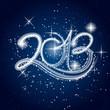 Надпись 2013 на звёздном небе.