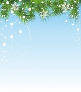 Подложка для новогодней открытки