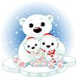 Белые медведи встречают Новый год