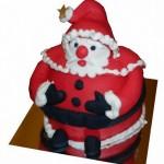 Дед Мороз из марципана украсит и новогодний стол и торт