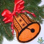 Рождественский колокольчик из красной и чёрной икры, пафосно и вкусно