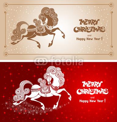 Карточки год Лошади (3)