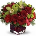 новогодние букеты с орхидеями (10)