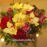 новогодние букеты с орхидеями (11)