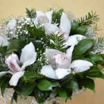 новогодние букеты с орхидеями (12)
