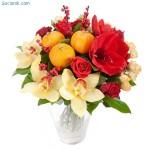 новогодние букеты с орхидеями (14)