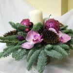 новогодние букеты с орхидеями (15)