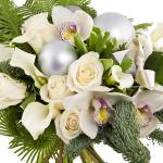 новогодние букеты с орхидеями (2)