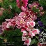 новогодние букеты с орхидеями (6)