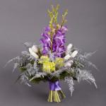 новогодние букеты с орхидеями (9)