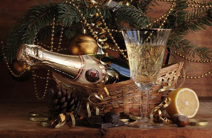 Фото открытки шампанское