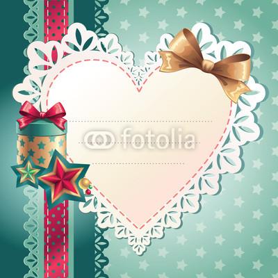 Изящный новогодний баннер с оборочками и новогодними украшениями (1)