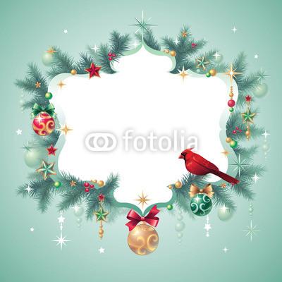 Изящный новогодний баннер с оборочками и новогодними украшениями (11)
