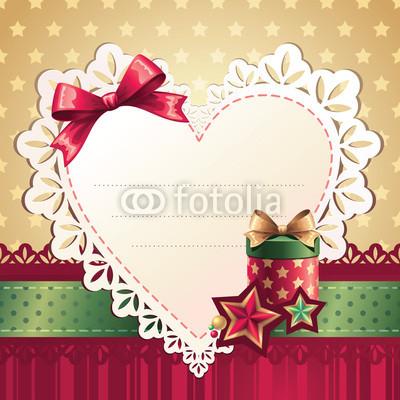 Изящный новогодний баннер с оборочками и новогодними украшениями (8)