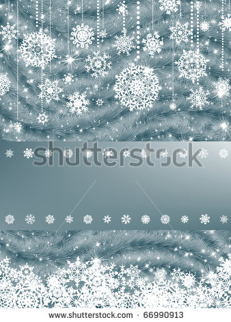 Красивая подложка для новогоднего баннера со снежинками (4)