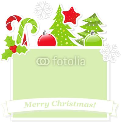 Красивый новогодний баннер с ёлочкой (4)