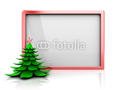 Красивый новогодний баннер с ёлочкой (5)