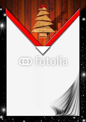 Красивый новогодний баннер с ёлочкой (7)