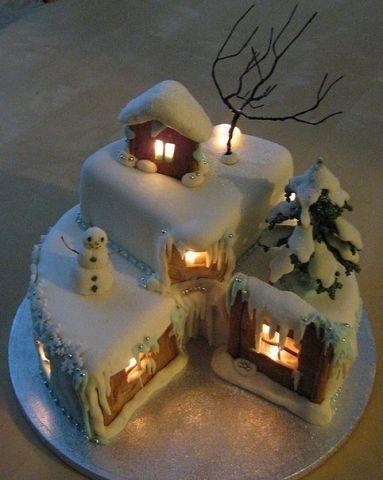 Невероятно красивый новогодний торт