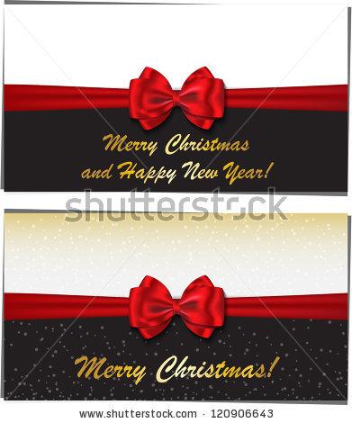 Новогодние баннеры разных цветов украшенные бантами (5)