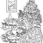 Новогодние раскраски (11)