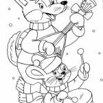 Новогодние раскраски (27)