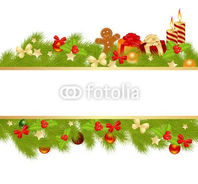 Новогодний банне� � в об�амлении новогодней �войной ги�лянд�