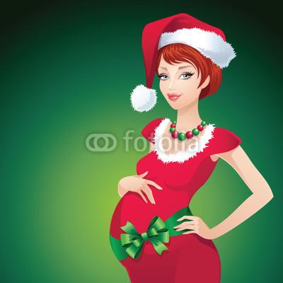 Новогодний баннер с красивой девушкой  (5)