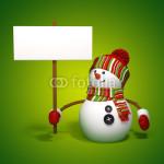 Подложка под баннер - снеговик на зелёном фоне (2)