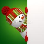 Подложка под баннер - снеговик на зелёном фоне (5)