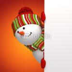 Подложка под баннер - снеговик на красном фоне (1)