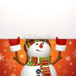 Подложка под баннер - снеговик на красном фоне (3)