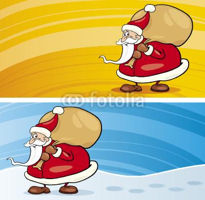 Баннеры с Дедом Морозом (4)