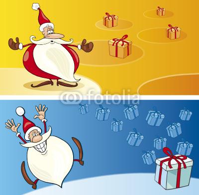 Баннеры с Дедом Морозом (5)