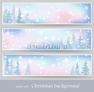 Голубые новогодние баннеры (10)