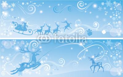 Голубые новогодние баннеры (11)