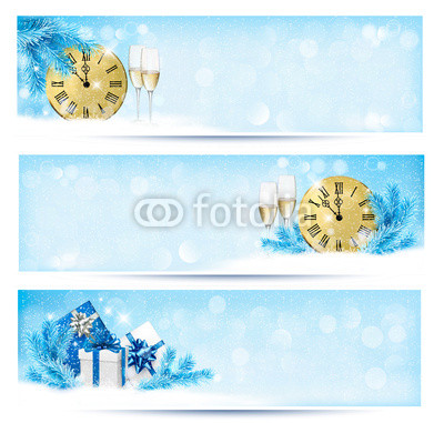 Голубые новогодние баннеры (13)
