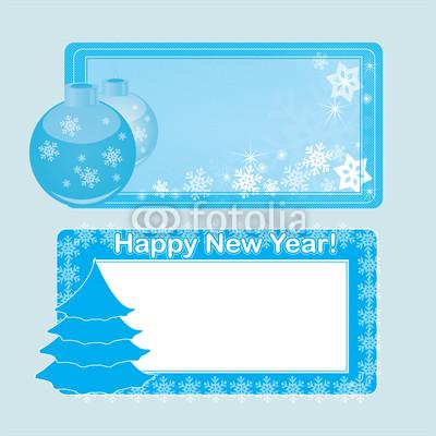 Голубые новогодние баннеры (3)